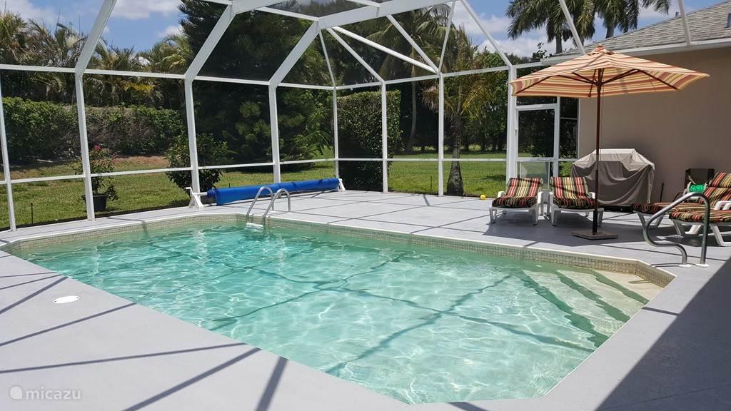 Grote terras rondom het zwembad