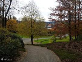 The spa park in Braunlage is very beautiful in the fall.