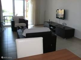 De uitleg i.v.m. het bedienen van de TV ligt in het mandje. De beheerder ter plaatse staat de huurders bij met raad i.v.m. het gebruik van de toestellen.