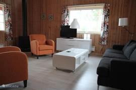 Overzicht van de comfortabele en gezellige woonkamer