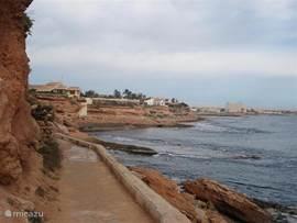 Kustpad langs de stranden