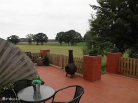 Uitzicht over het veld vanaf uw terras.