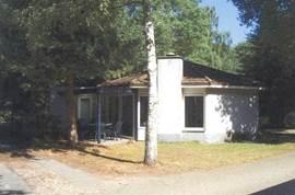 Onze bungalow is een gezellige recreatiewoning aan een bosrijk laantje op Bungalowpark Het Verscholen Dorp, op de Veluwe, vlakbij Harderwijk.