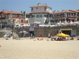gezellig centrum strand Hossegor met restaurants, op loopafstand studio