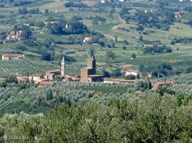 Vinci, het geboortedorp Van het genie Leonardo da Vinci in centraal Toscane