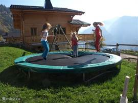 The trampoline is always good with children :)