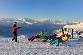 Uitzicht vanaf skigebied.