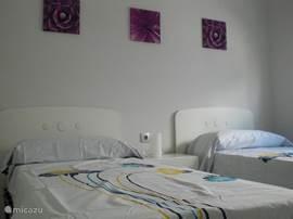 3e Slaapkamer met 2x een 1 persoonsbed