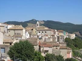 Het dorp Casacalenda, en een zoekplaatje naar het huis.