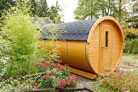 The barrel sauna