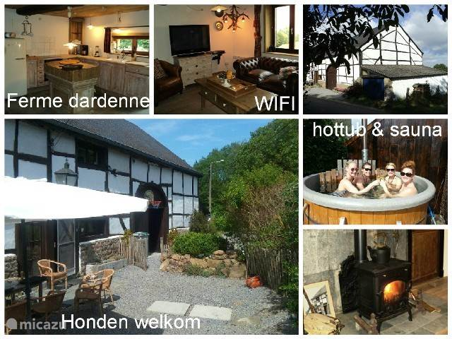 Vacation rental Belgium, Ardennes, Heyd holiday house Ferme d'Ardenne