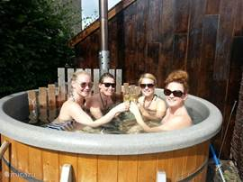 The hot tub is a party in itself, linger outside in a warm bath can also be used swinters
