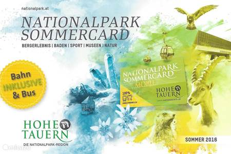 Nieuw vanaf zomer 2016: Nationalpark Sommercard inclusief!
