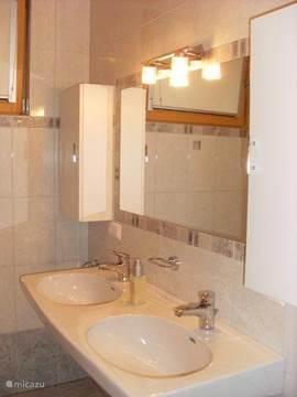 dubbele wastafel in badkamer 1 (naast slaapkamer)