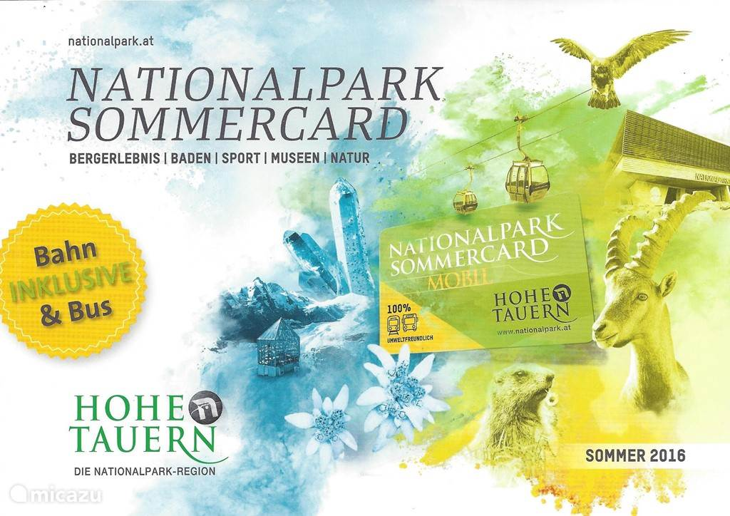 New from summer 2016: Nationalpark Sommercard included!