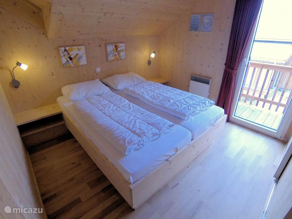 Tweepersoons slaapkamer met balkon