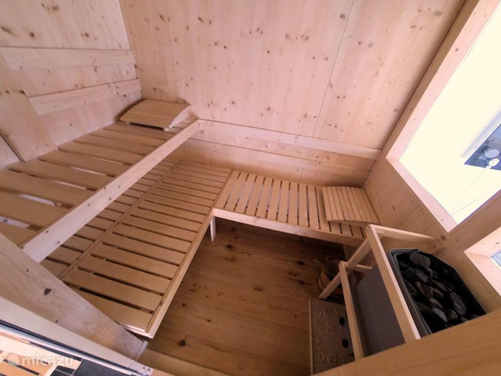 Finsse sauna met uitzicht.
