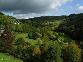 Het uitzicht in het Kurtal van het dorpje Nordenau in de omgeving van het toeristische stadje Winterberg. Kom lekker genieten van de rust. Lekker een weekendje weg met de familie, collega's of vrienden.