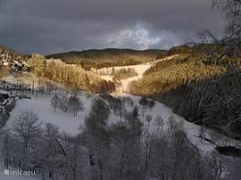 Het prachtige uitzicht in het dal .