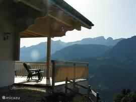 Het balkon, zomer en winter onze favoriete plek