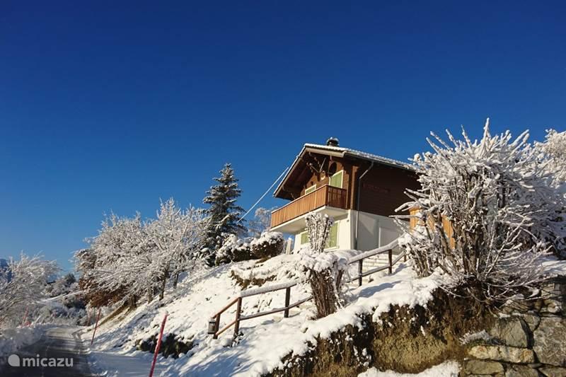 Vakantiehuis Zwitserland, Wallis, St-Romain Chalet Chalet Orchidee