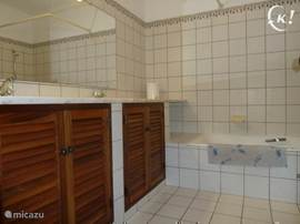 badkamer 1, ligbad,w.c.,dubbel wastafel,