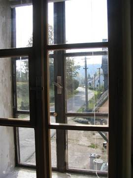 The street seen from the living room