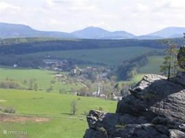 Zdonov gezien vanaf de kruisberg