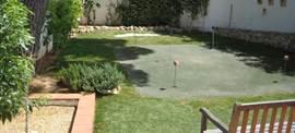 Wat zullen we oefenen in de beneden-tuin, bunkerslagen, chippen of putten?