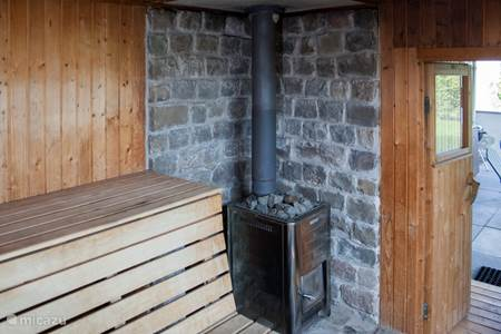 De sauna.