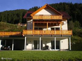 Beautiful Chalet located on the south side of the Alps overlooking the Gail and the village Kirchbach.