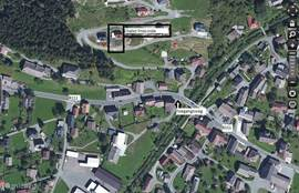 Satellite photo of the location of Chalet FrieLinde
