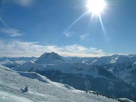 Beautiful views from the mountains during your skiing holiday