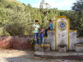Deze karakteristieke waterbron staat in het dorpje.