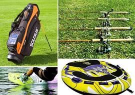 In de garage treft u een golftas aan, hengels en fun things voor achter de Nautic Star en voor in het zwembad.