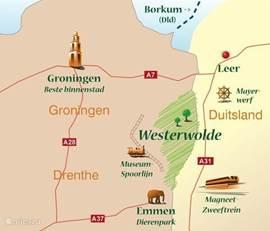en dit allemaal temidden van meer dan 2600 hectare natuurgebied. In het mooie Westerwolde, een nog niet ontdekt stukje Nederland.