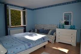 "themed bedroom ""The Beach"" Bedroom overlooks conifer hedge"