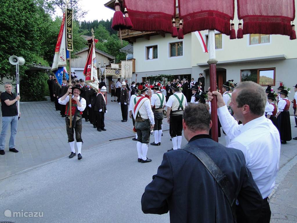 For many years takes place the procession for our apartments in June. An attraction in itself.
