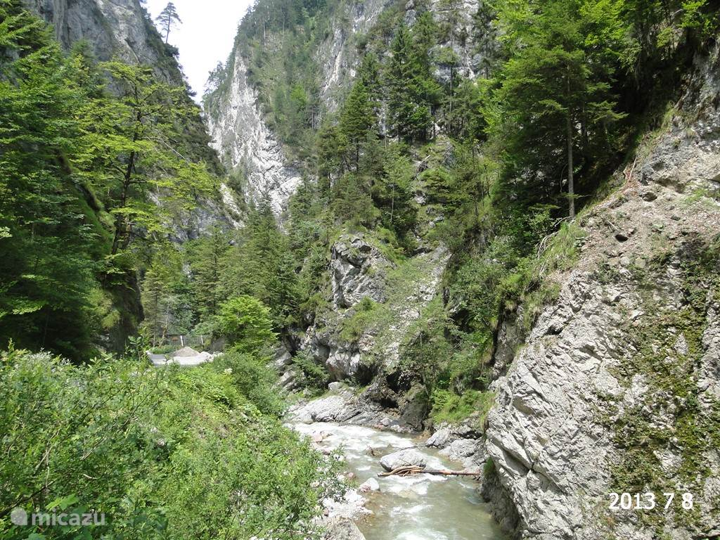 Around the corner from the apartment you will find the Kundler Klamm. A beautiful walk for young and old