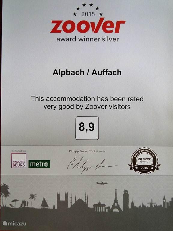 De Zilveren Award gewonnen, dank zij onze fantastische gasten.