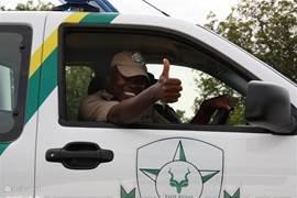 Beveiligers in het Kruger Park