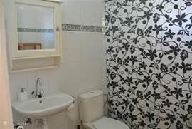 Ruime badkamers de ene badkamer grenst aan de masterbedroom de andere badkamer kun je van alle kamers betreden deze noemen wij de gasten badkamer ze zijn nagenoeg hetzelfde alleen de ene is iets groter dan de andere maar ze zijn beide erg ruim