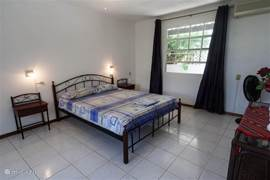 The main bedroom of the apartment is the master bedroom.