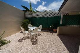 This terrace has complete privacy and is located at the rear of Casa Kòrsou.