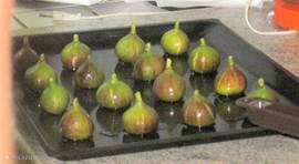 Zelfgeplukte vijgen, één van de verse vruchten in de tuin