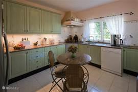 Gesloten keuken voorzien van inductiekookplaat/vaatwasser/combi-magnetron/Amerikaanse koel-vriescombinatie
