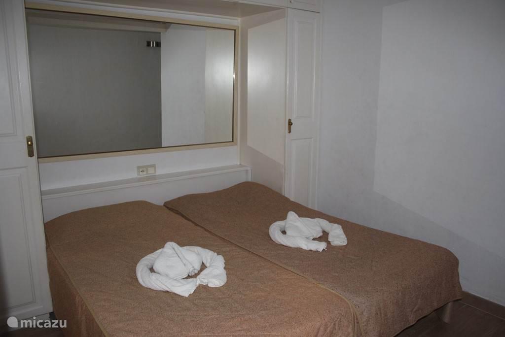 Slaapgedeelte 2 een persoons goede bedden .voor 2 personen