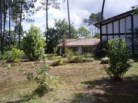 Tuin en zijzicht huis