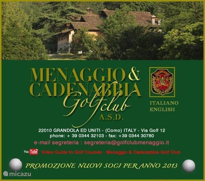 Mennagio biedt een prachtig 19 holes golfterrein, een van de oudste golfbanen in Italie, prachtig onderhouden, een must voor elke golfer.