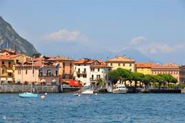 Typical view from the Lake Lugano, the charming Italian villages.